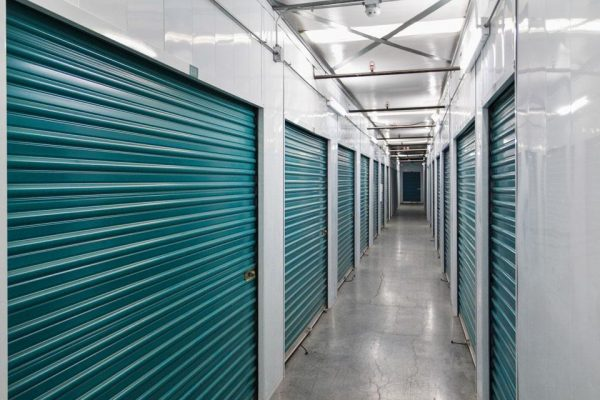 Interior self storage units at Corona Self Storage at Dos Lagos.