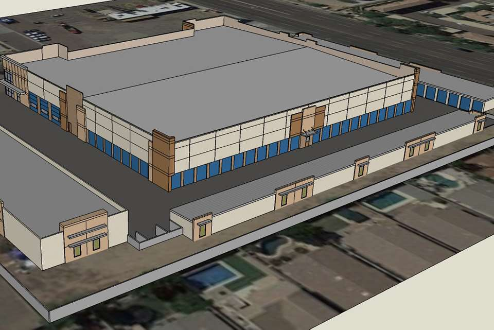 self storage phoenix az cave creek exterior rendering